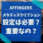 AFFINGER5 メタディスクリプション ブログ