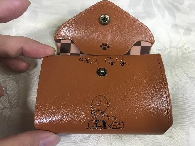スヌーピー 三つ折り財布_d